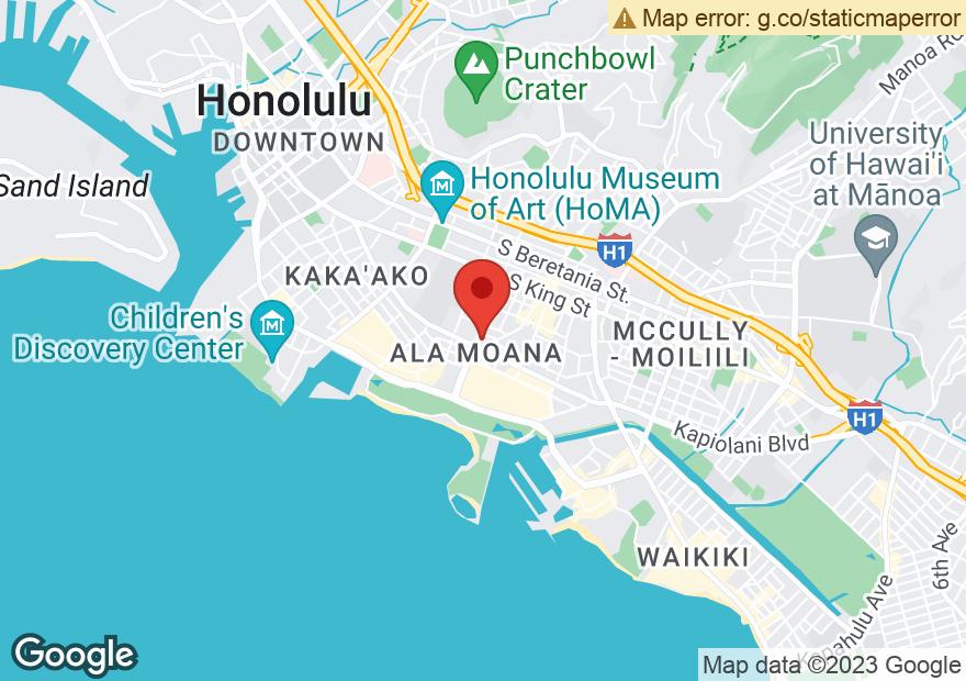 Google Map of 615 PIIKOI ST