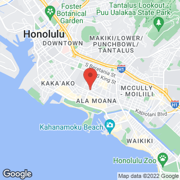 Map of BAYADA Oahu Home Care at 615 Piikoi Street, Honolulu, HI 96814