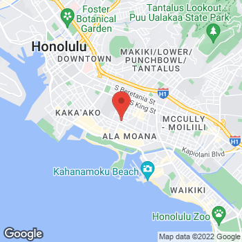Map of BAYADA Home Health at 615 Piikoi Street, Suite 601, Honolulu, HI 96814