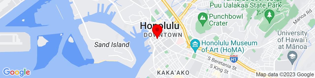 Google Map of 21.3082355, -157.8619092