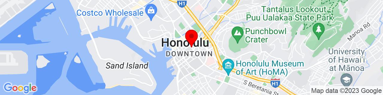 Google Map of 21.3112597, -157.859286