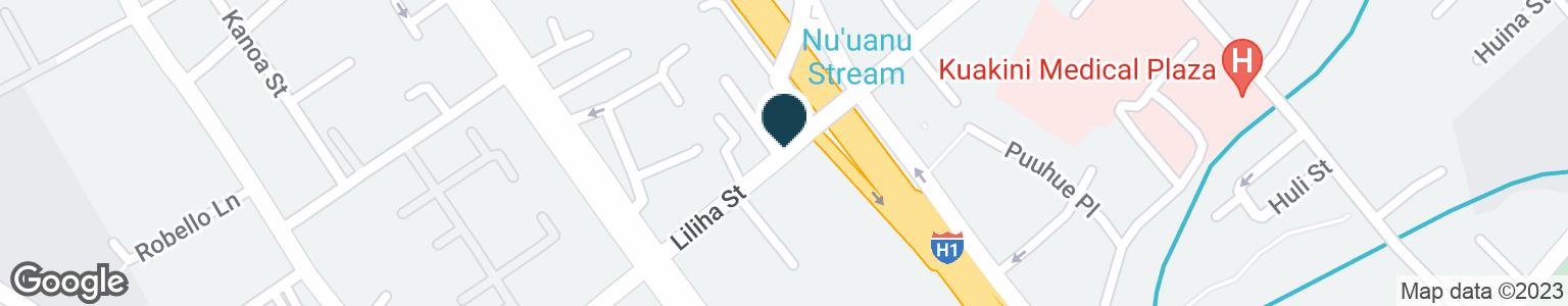 Google Map of1520 LILIHA ST