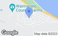 Map of Waimanalo, HI