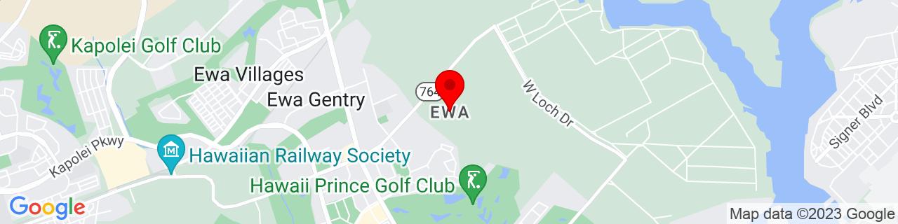 Google Map of 21.3389545, -158.0119801