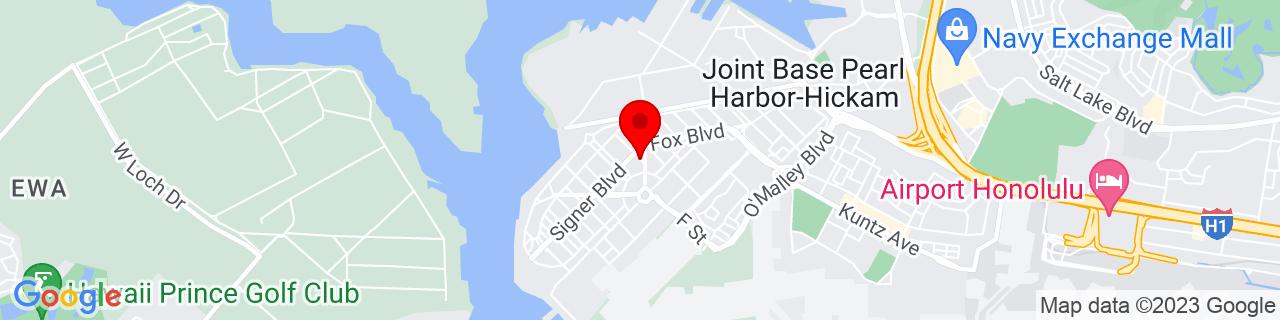 Google Map of 21.3411676, -157.957831