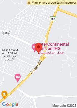 Google Map of فندق الطائف انتركونتيننتال