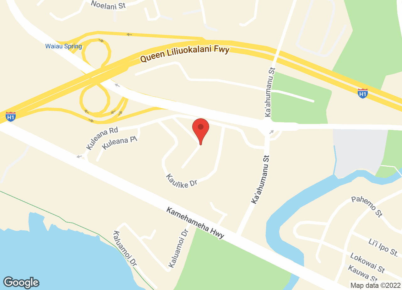 Google Map of VCA Family and Oahu Veterinary Specialty Center