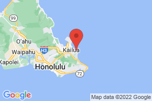 Map of Lanikai Beach