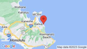 Map of Lanikai Beach