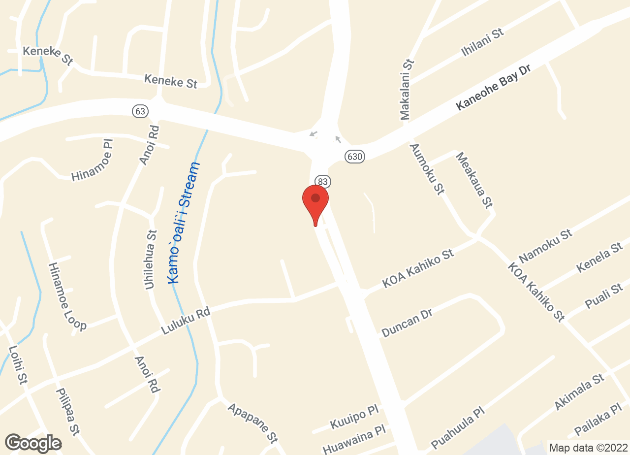 Google Map of VCA Kaneohe Animal Hospital
