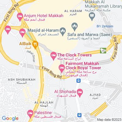 خريطة فندق فندق قصر مكة رافلز