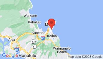 Map of Kailua Beach