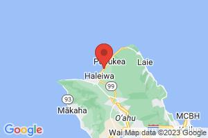 Map of Laniakea Beach