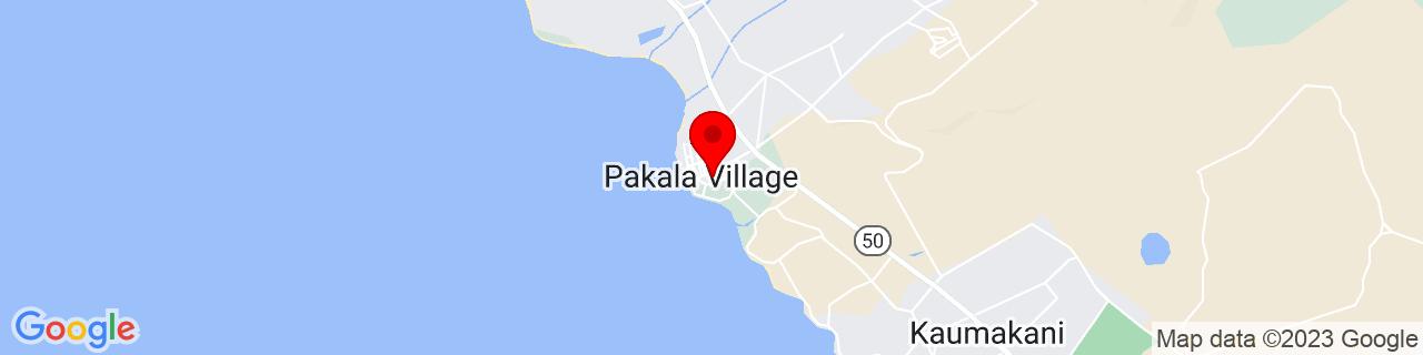 Google Map of 21.9330143, -159.6472644