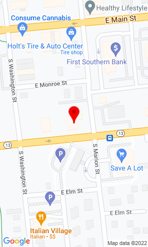 Google Map of Coleman Lawn Equipment, Inc. 210 East Walnut, Carbondale, IL, 62901