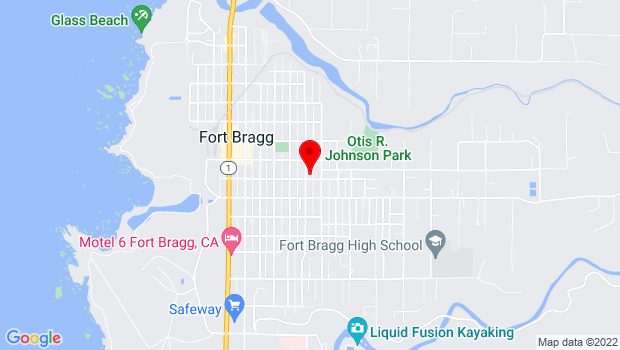 Google Map of 210 N. Corry St., Fort Bragg, CA 95437