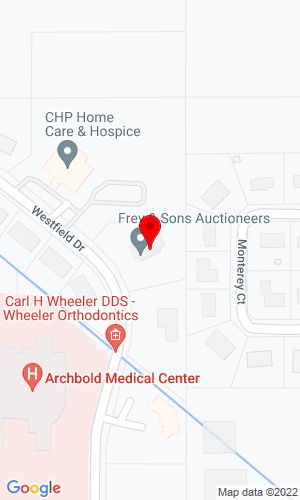 Google Map of Frey & Sons 210 Westfield Drive, Archbold, OH, 43502