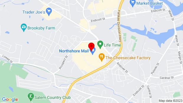 Google Map of 210 Andover Street, Peabody, MA