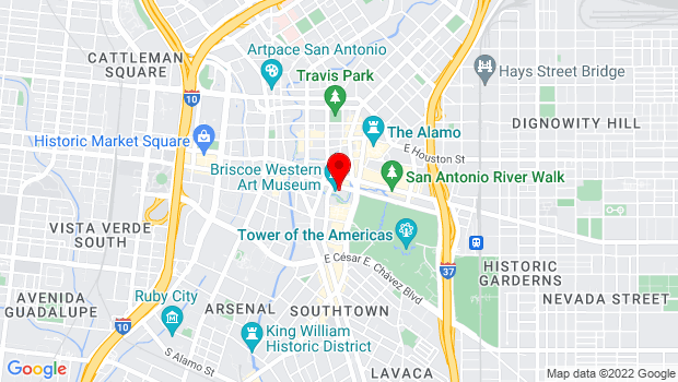 Google Map of 210 W. Market St, San Antonio, Texas 78205