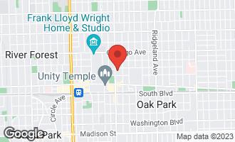 Map of 210 North Oak Park Avenue 1GG OAK PARK, IL 60302