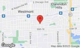 Map of 210 Oak Avenue WESTMONT, IL 60559