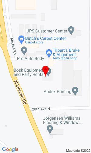 Google Map of Bosk Equipment Rental 2100 North Lincoln Road, Escanaba , MI, 49829