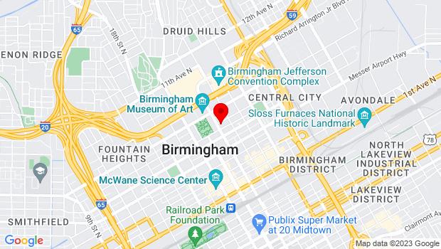 Google Map of 2100 Park Place, 4th floor - computer room, Birmingham, AL 35203