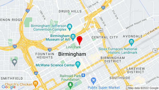 Google Map of 2100 Park Place, 4th floor Computer Room, Birmingham, AL 35203