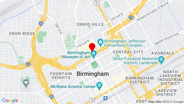 Google Map of 2100 Richard Arrington Blvd. North, Birmingham, AL 35203