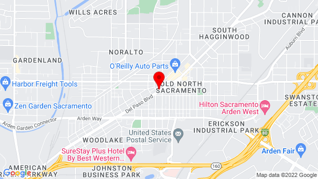 Google Map of 2109 Del Paso Blvd., Sacramento, CA 95815