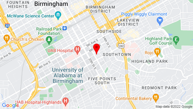 Google Map of 2109 7th Avenue South, Birmingham, AL 35233