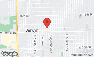 Map of 2109 Gunderson Avenue BERWYN, IL 60402