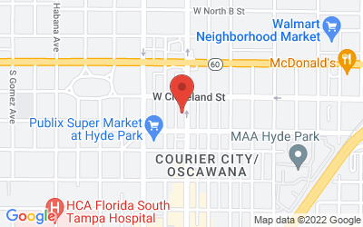 Map of 211 South Howard Avenue, Tampa, FL, USA