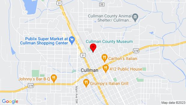 Google Map of 211 2nd Ave NE, Cullman, AL 35055