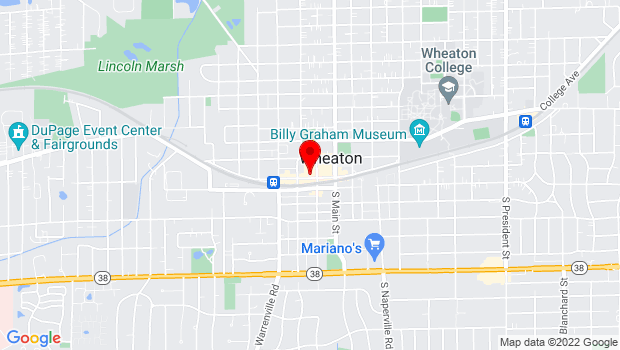 Google Map of 211 W. Front Street, Wheaton, IL 60187