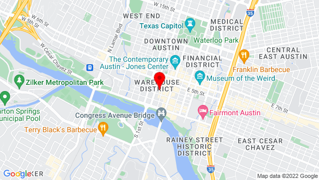 Google Map of 211 West 4th Street, Austin, TX 78701