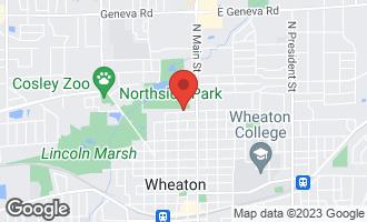 Map of 211 West Prairie Avenue WHEATON, IL 60187