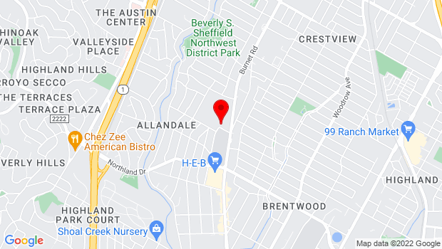Google Map of 2110 White Horse Trail, Austin, TX 78757