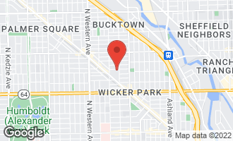 Map of 2111 West Churchill Street #105 CHICAGO, IL 60647