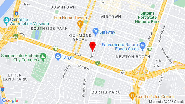 Google Map of 2116 19th St., Sacramento, CA 95811