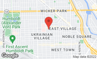 Map of 2116 West Haddon Avenue CHICAGO, IL 60622