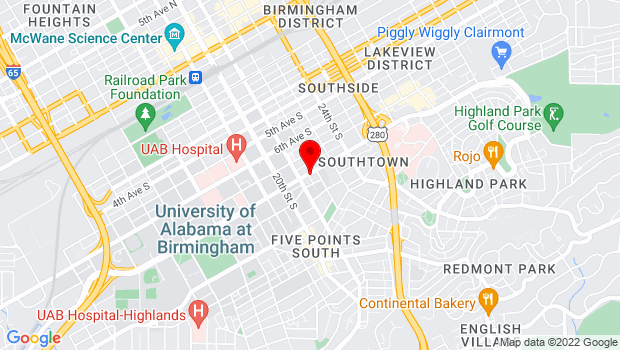 Google Map of 2117 University Boulevard, Birmingham, AL 35233