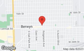 Map of 2117 Elmwood Avenue #1 BERWYN, IL 60402
