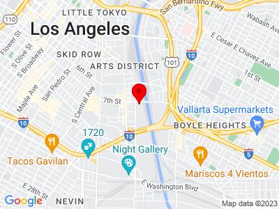 Google Map of 2118 East 7th Street, Los+Angeles, CA 90021