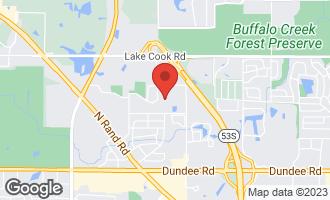 Map of 2118 North Williamsburg Drive PALATINE, IL 60074