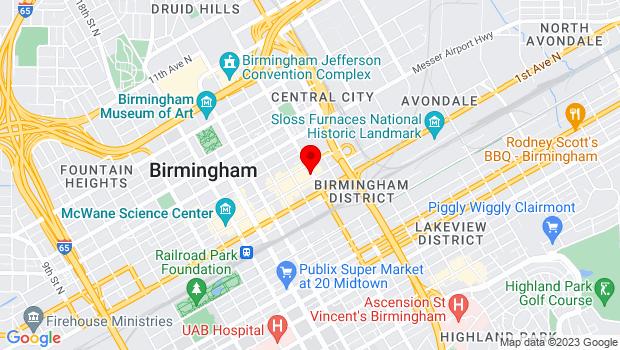 Google Map of 212 24th Street N., Birmingham, AL 35203