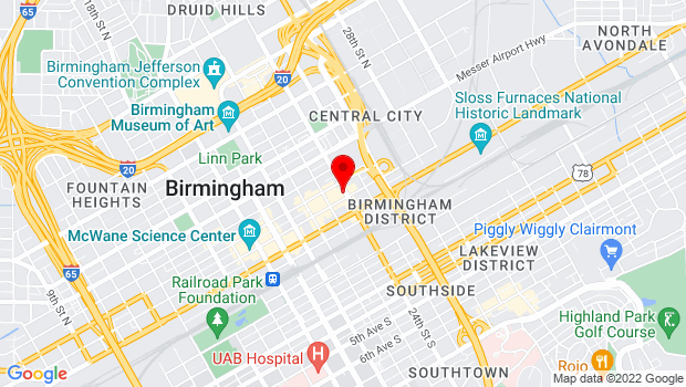 Google Map of 212 24th Street North, Birmingham, AL 35203