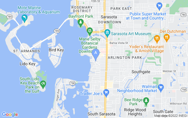 2121 Mcclellan Pkwy Sarasota Florida 34239 locatior map