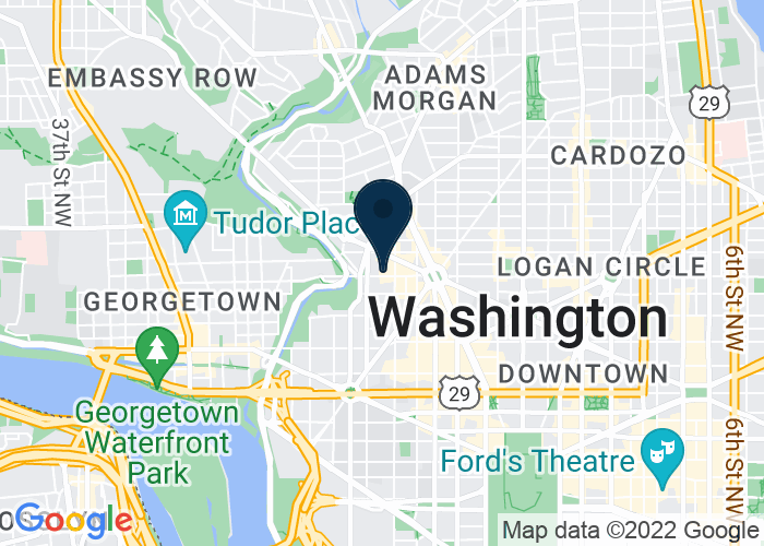 Map of 2121 P Street NW, Washington, DC 20037, United States