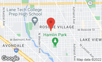 Map of 2121 West Roscoe Street #3 CHICAGO, IL 60618